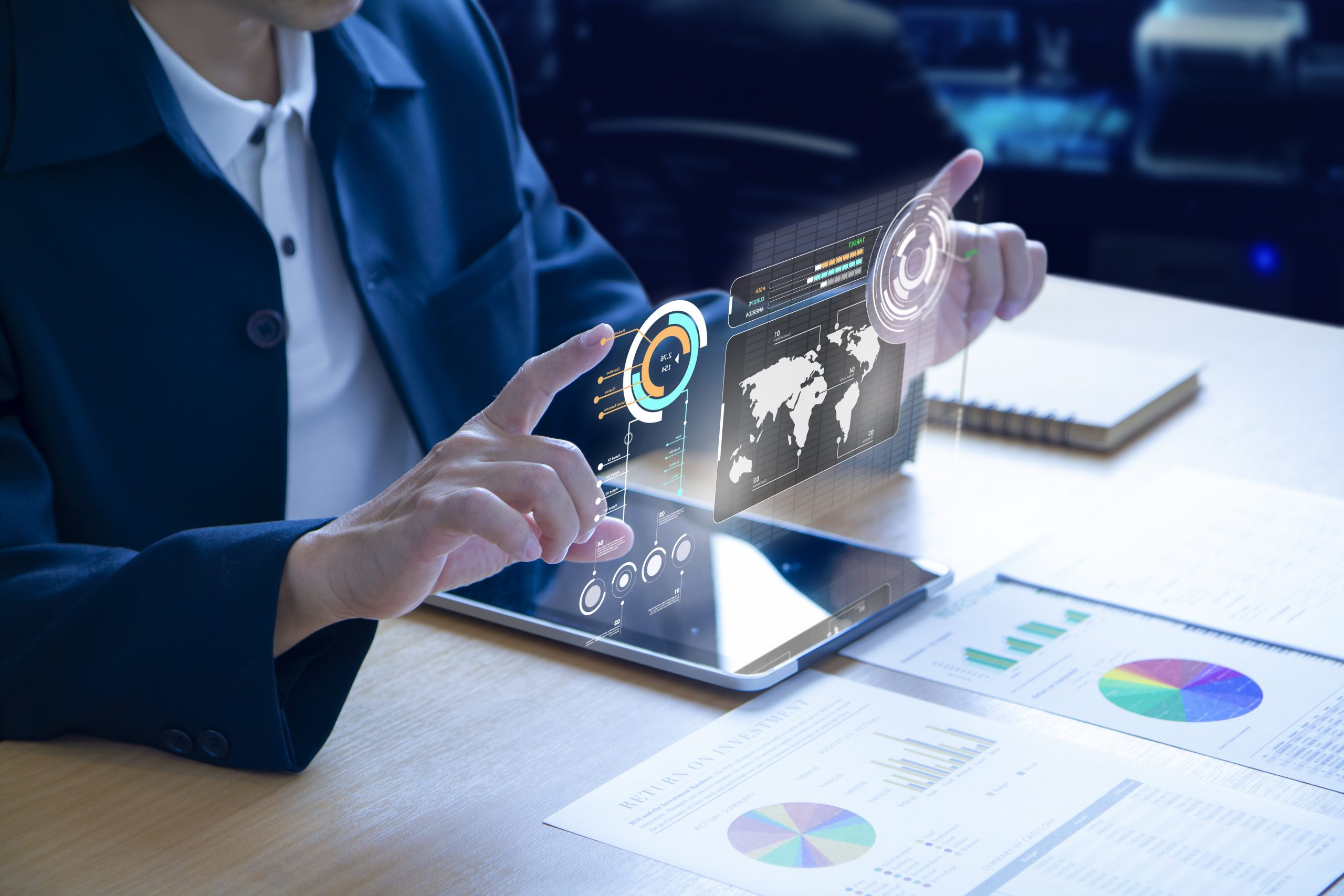 Futuristic business investment information technology